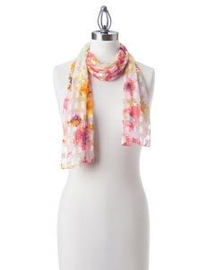 Basha Pink / Green Scarves & Wraps