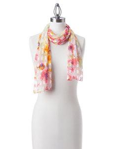Basha Pink / Green Scarves & Wraps