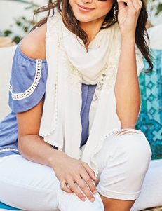 Basha White Scarves & Wraps