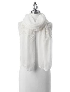 Basha White Scarves & Wraps