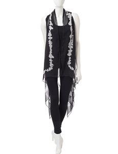 Kensie Black Scarves & Wraps