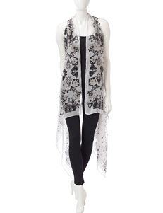 Kensie Black / White Scarves & Wraps