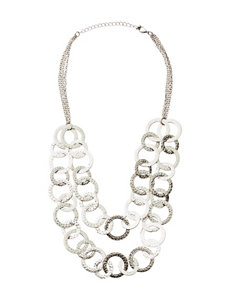 Signature Studio 2-Row Hammered Chain Necklace