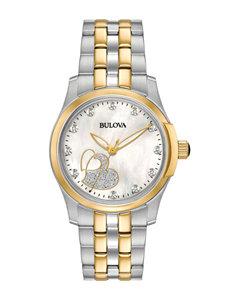Bulova White Fashion Watches