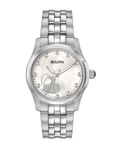Bulova White Fashion Watches