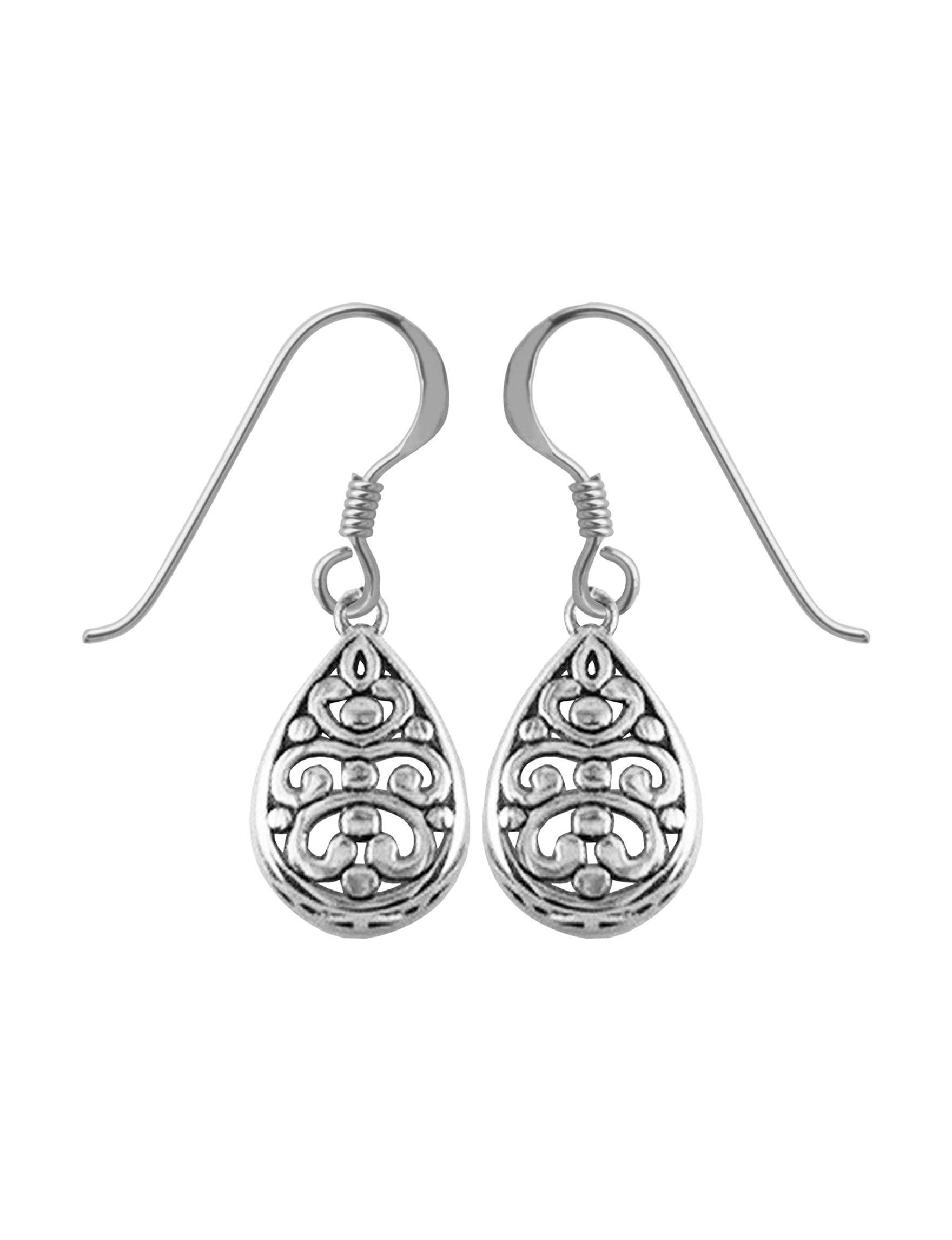 PAJ INC. White Drops Earrings Fine Jewelry