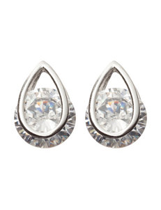 Sunstone White Earrings Fine Jewelry
