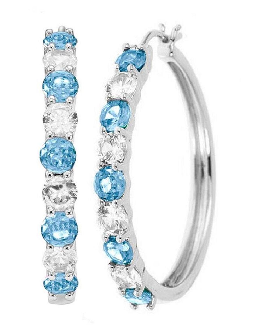 White Hoops Earrings Fine Jewelry