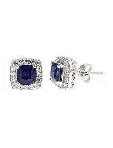 White Studs Earrings Fine Jewelry