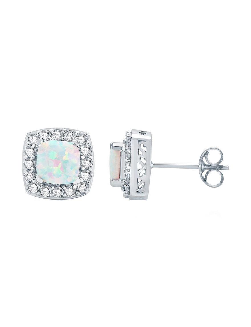 White Earrings Fine Jewelry