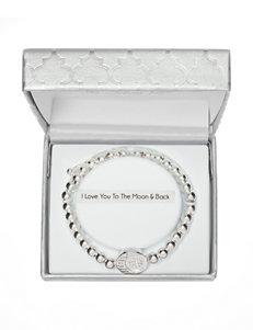 Fine Silver-Plated Adjustable Crystal Heart Charm Bracelet