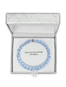 Fine Silver-Plated Adjustable Beaded Stars & Moon Bracelet