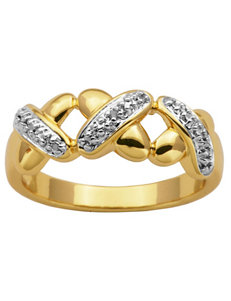 PAJ Inc. 18K Gold-Plated X Ring