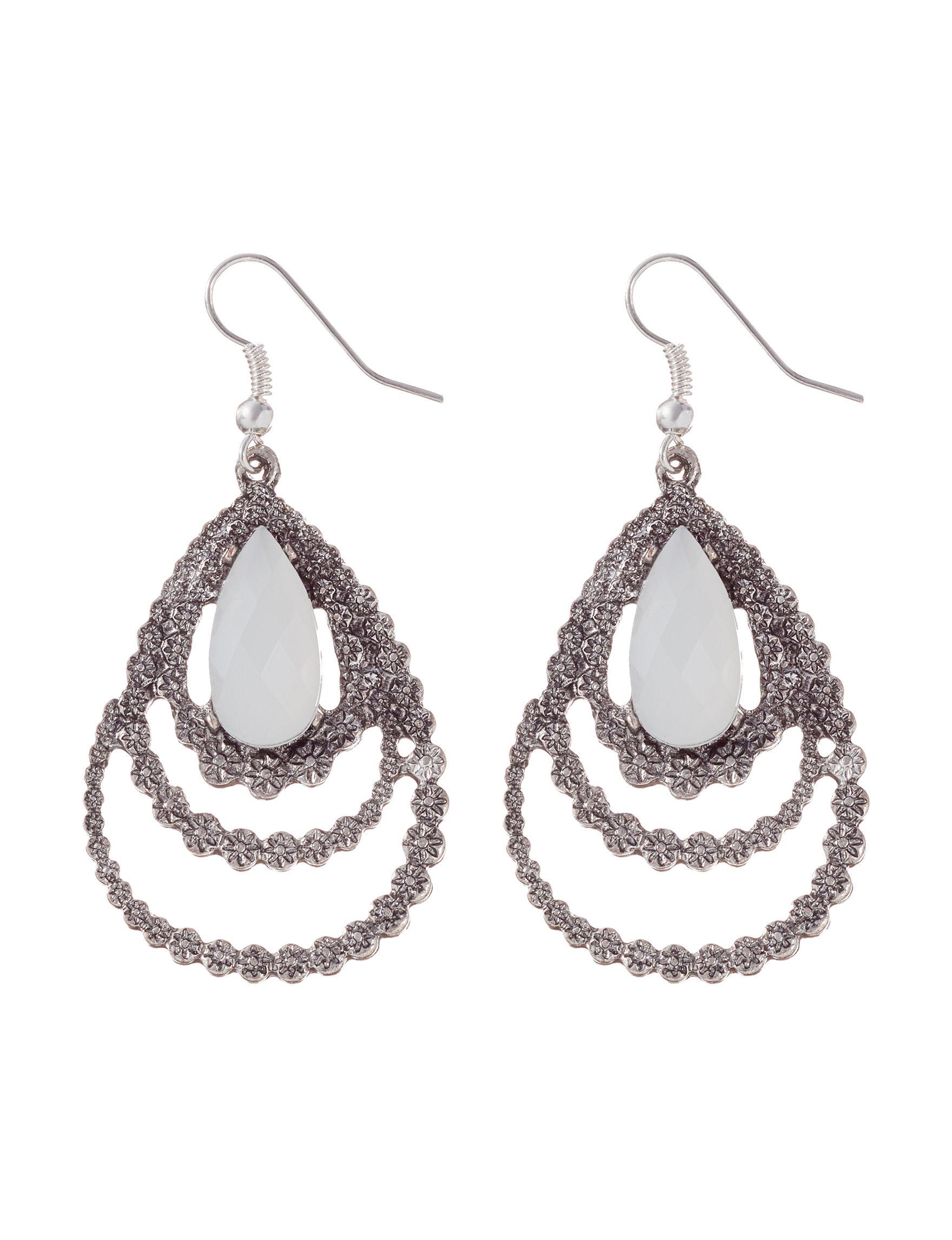Hannah Crystal Drops Earrings Fashion Jewelry
