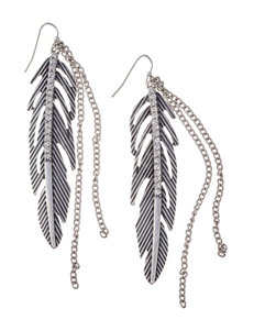 Hannah Feather Drop Earrings