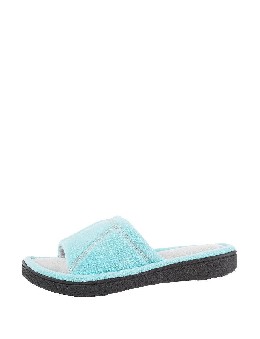 Isotoner Blue Slipper Sandals