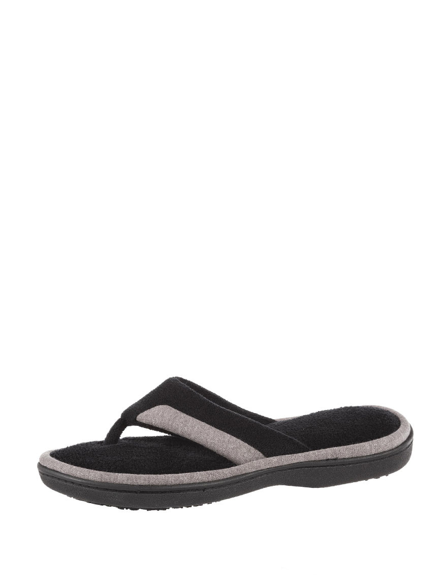 Isotoner Black Slipper Sandals