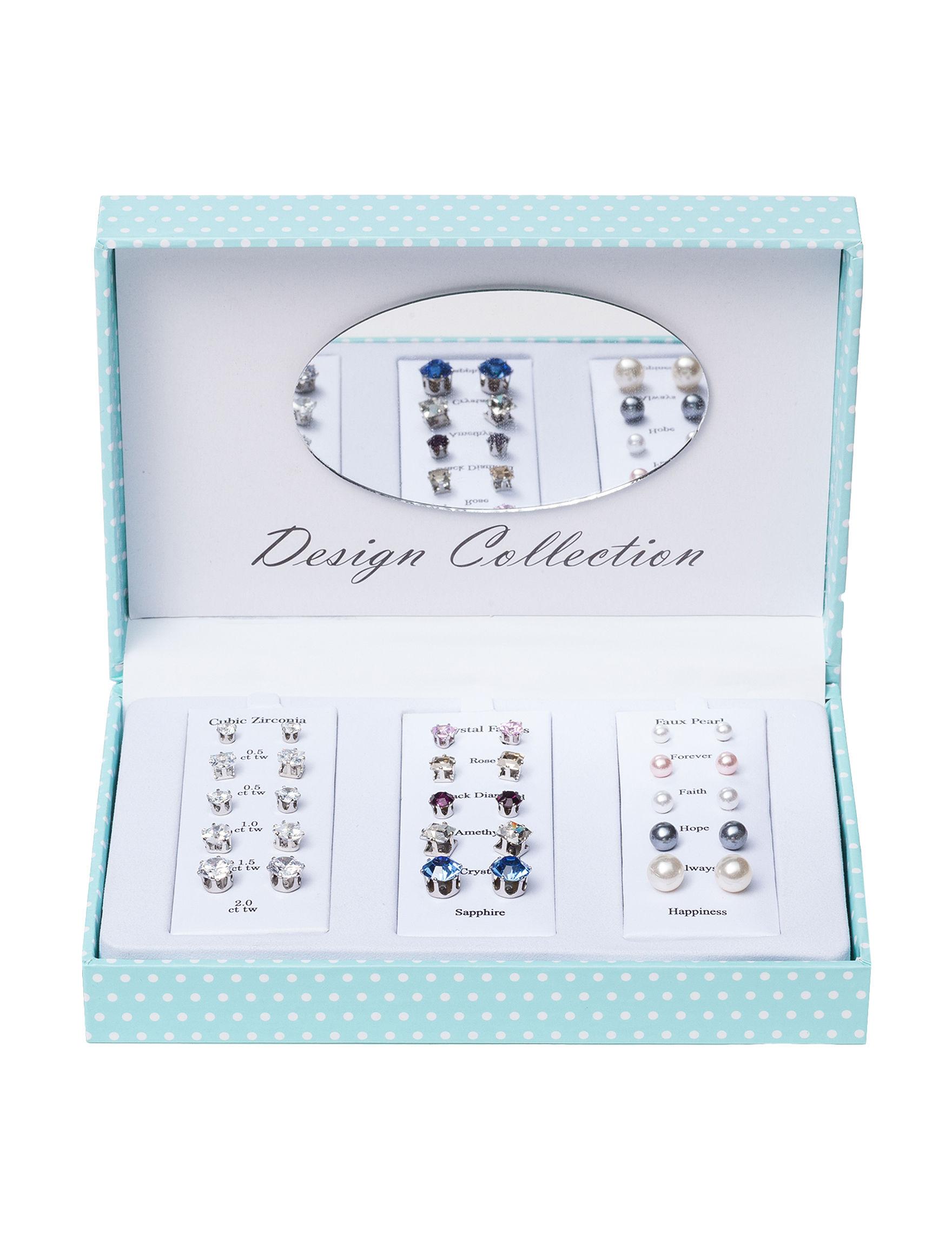 House of Primavera Silver Studs Earrings Fashion Jewelry