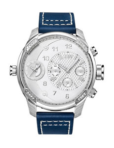JBW Diamond Accent Leather Band Watch