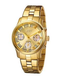 JBW 18K Gold-Plated Diamond Accent Bracelet Watch