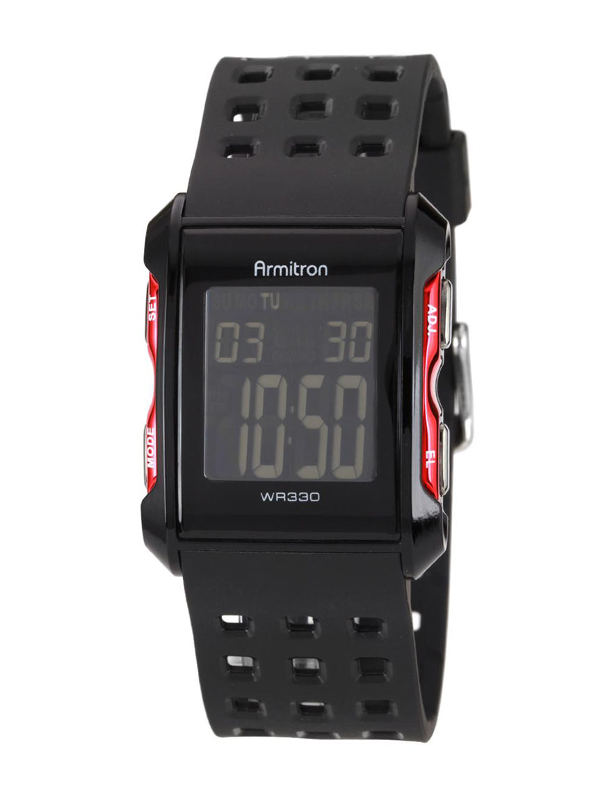 Armitron Black Sport Watches