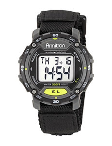 Armitron Digital Multifunction Black Nylon Faststrap Sport Watch