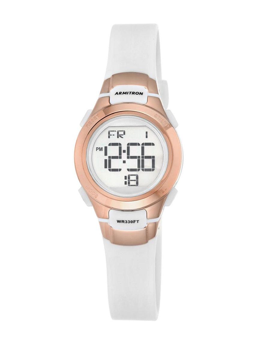 Armitron White Sport Watches