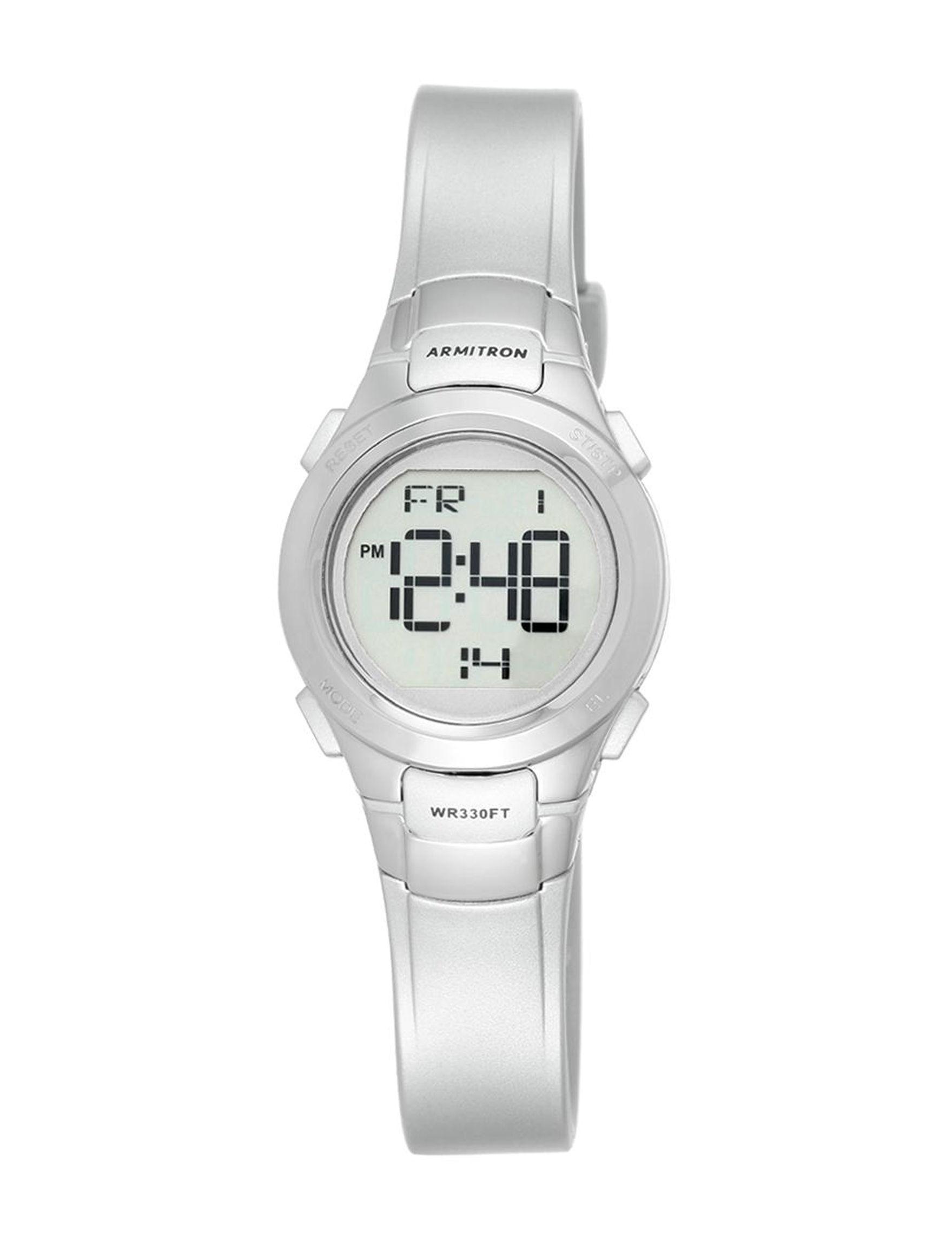 Armitron Silver Sport Watches