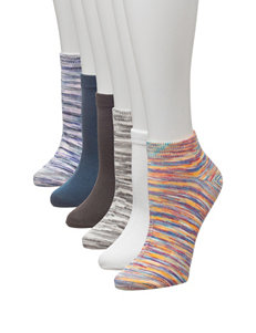 Signature Studio 6-pk. Space Dye No-Show Socks