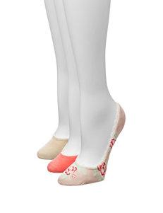 Signature Studio 3-pk. Lace Trim Liner Socks