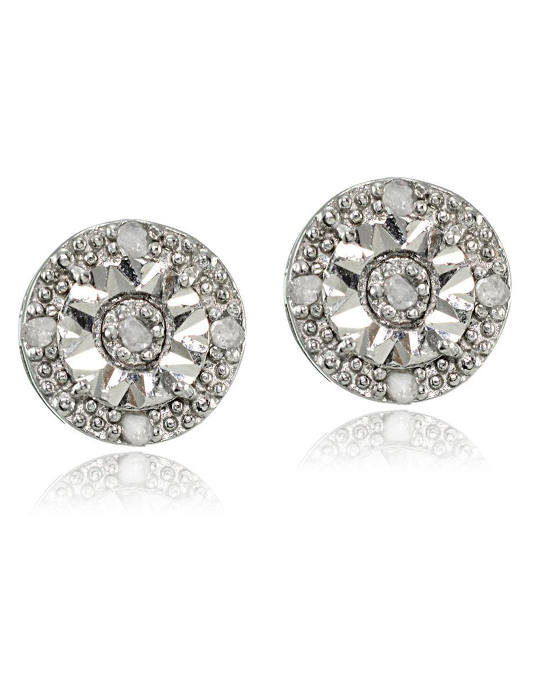 FMC Silver Studs Earrings Fine Jewelry