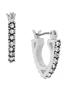 Jessica Simpson Silver Hoops Earrings Fashion Jewelry