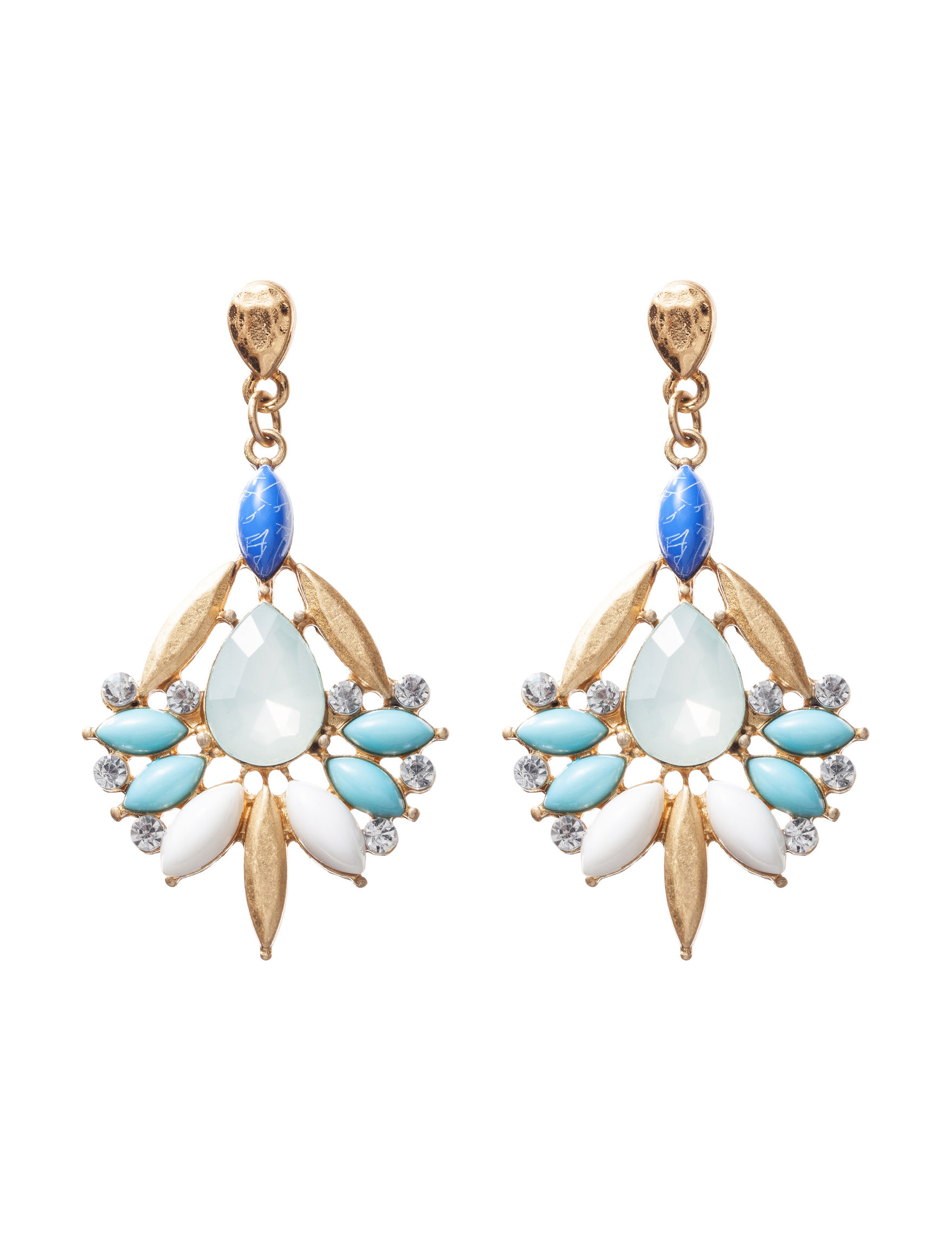 Hannah White Drops Earrings Fashion Jewelry