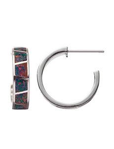 Kencraft Created Opal Hoop Earrings
