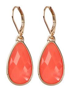 Nine West Pink Drops Earrings Fashion Jewelry