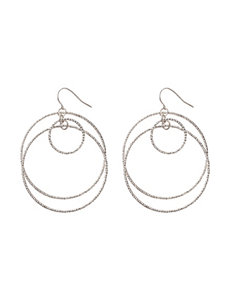 Hannah White Hoops Earrings Fashion Jewelry