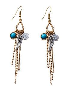 Hannah Turquoise Drops Earrings Fashion Jewelry