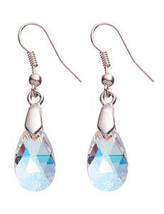 Silver-Plated Swarovski Crystal Drop Earrings