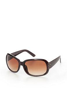 Signature Studio Rectangle Bling Sunglasses