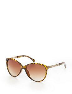 Signature Studio Tortoiseshell Chain Link Cat-eye Sunglasses