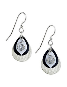 Silver Forest Navy Drops Earrings Fashion Jewelry