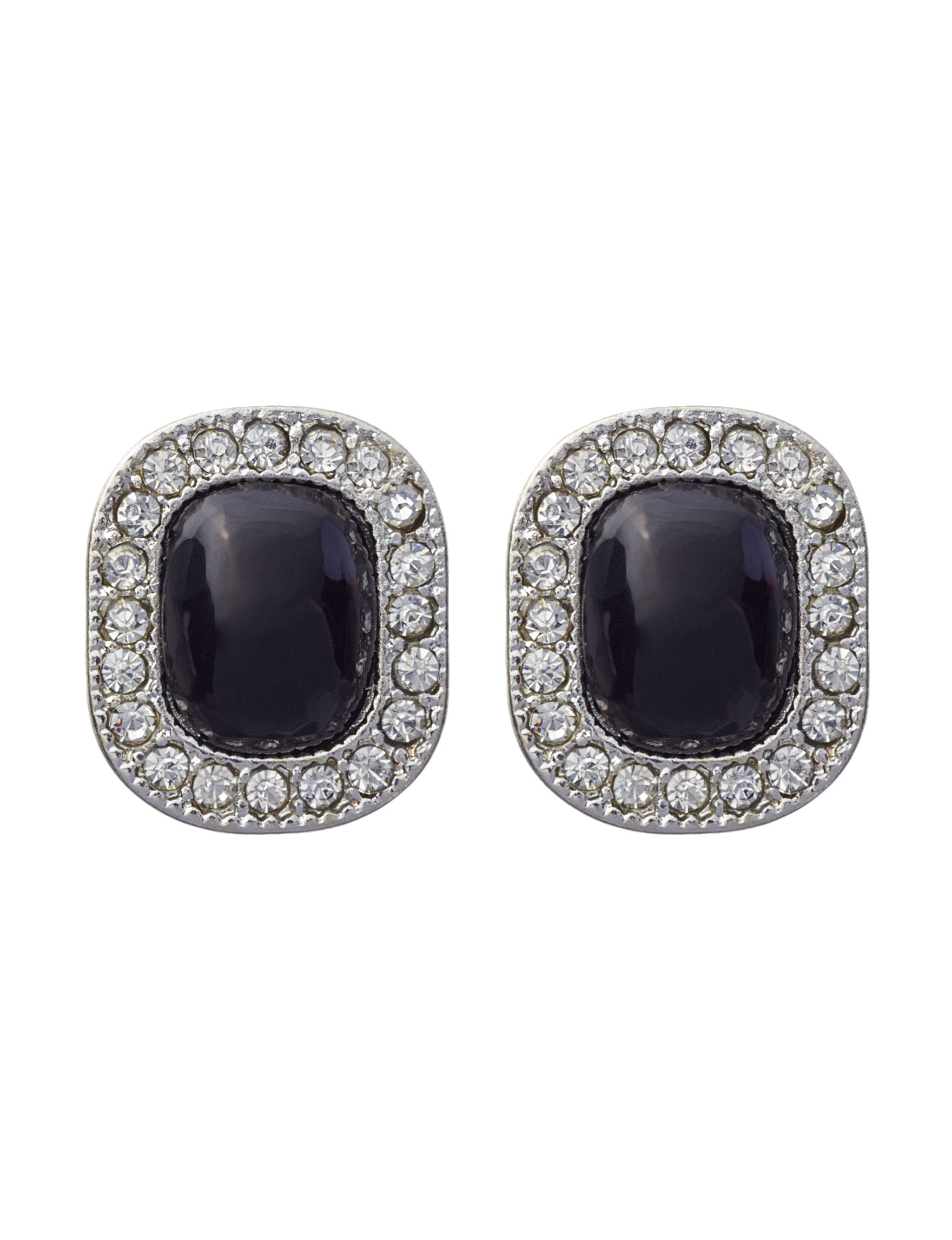 Hannah Black Studs Earrings Fashion Jewelry