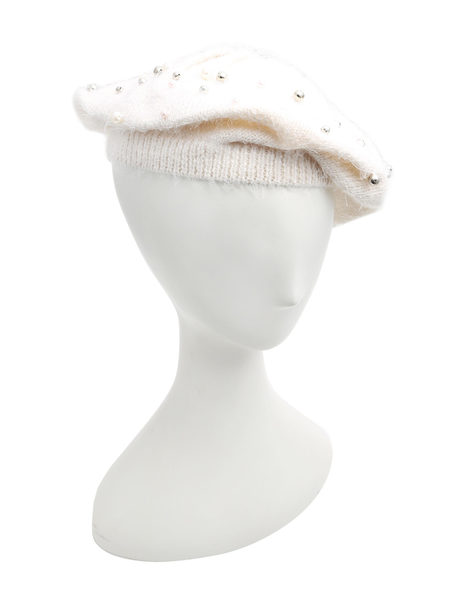 Betsey Johnson Ivory Hats & Headwear