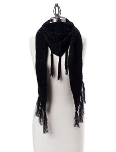 David & Young Black Scarves & Wraps