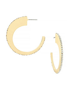 Jessica Simpson Gold Hoops Earrings Fashion Jewelry