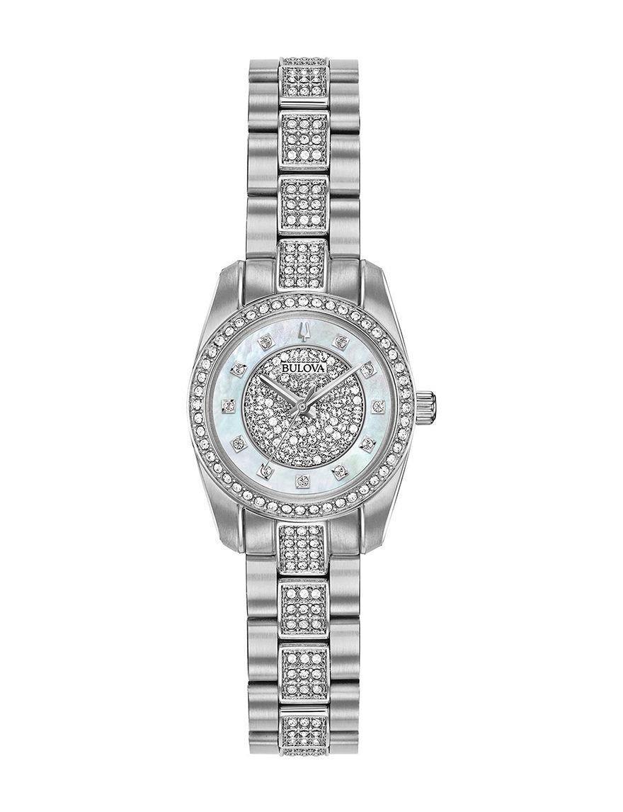 Bulova Silver Fashion Watches