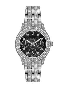 Bulova Black / Silver Fashion Watches