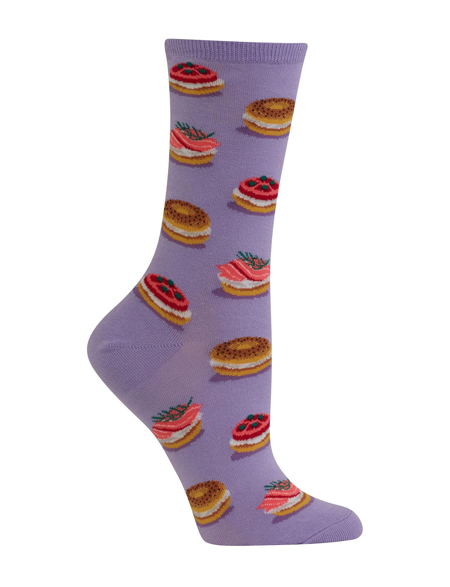 Hot Sox Lavender Socks