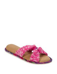 Dearfoam Pink Slipper Sandals