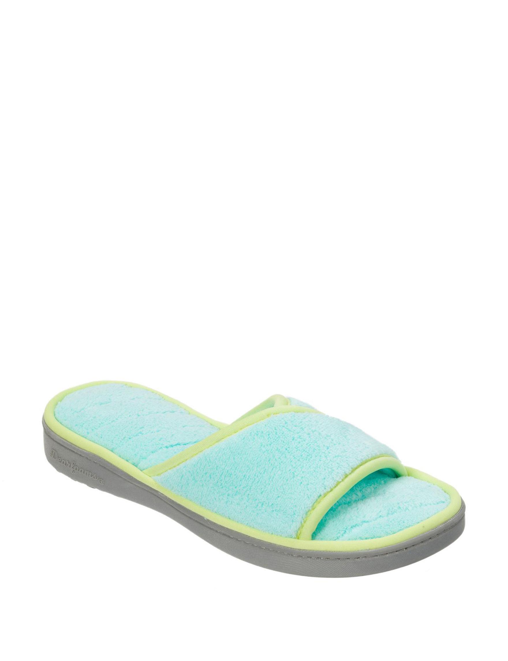 Dearfoam Blue Slipper Sandals